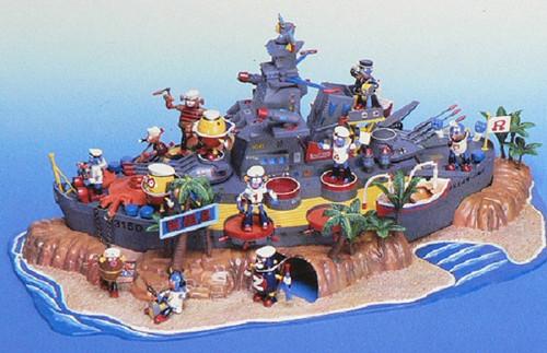 Aoshima 42908 Robodatchi BattleShip Island non-Scale Kit