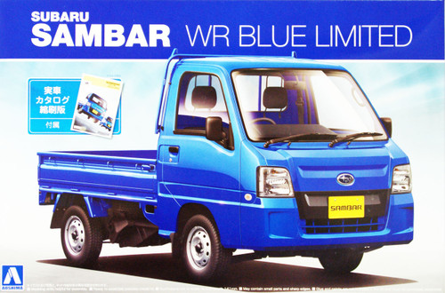 Aoshima 07402 Subaru Sambar WR Blue Limited 1/24 Scale Kit
