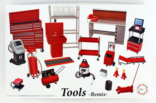 Fujimi GT28 114392 Garage & Tool Series Tools Remix 1/24 Scale Kit