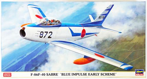 Hasegawa 07381 F-86F-40 Sabre Blue Impulse Early Scheme 1/48 Scale Kit