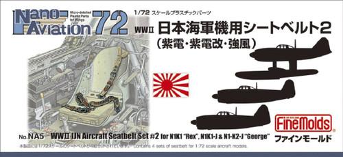 Fine Molds NA5 WW2 IJN Aircraft Seatbelt Set #2 1/72 Scale Kit