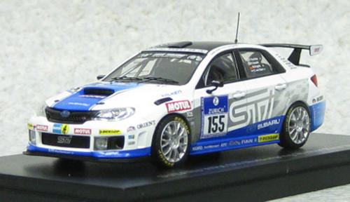 Ebbro 44988 Subaru WRX STI Nurburgring 24-hour Race 2011 #155 1/43 Scale