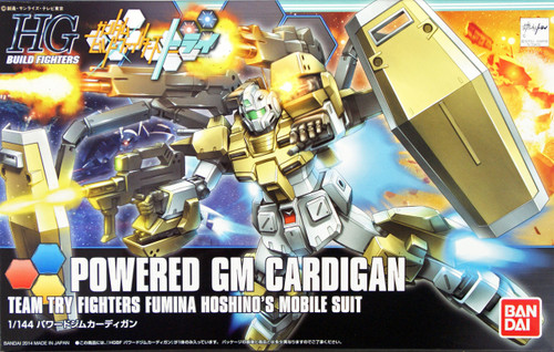 Bandai HG Build Fighters 019 POWERED GM CARDIGAN 1/144 Scale Kit