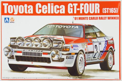 Aoshima 84229 Toyota Celica GT-Four ST165 1991 Monte Carlo Rally Winner 1/24 Scale Kit