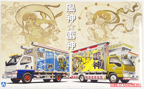 Aoshima 09680 Japanese Decoration Truck Fujin & Raijin 1/32 Scale Kit