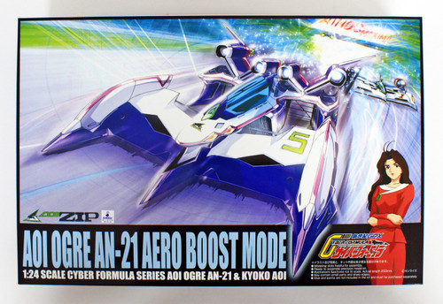 Aoshima 12321 Cyber Formula Aoi Ogre An-21 Aero Boost Mode 1/24 Scale Kit