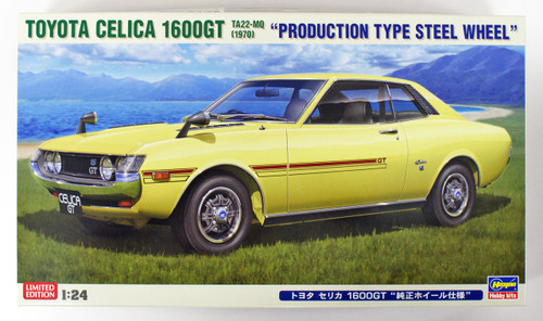 Hasegawa 20265 Toyota Celica 1600GT TA22-MQ 1970 Production Type Steel Wheel 1/24 Scale Kit