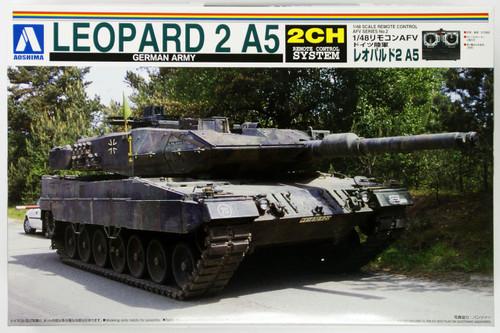 Aoshima 01462 RC AFV Series No. 2 German Army Leopard 2 A5 1/48 Scale Kit