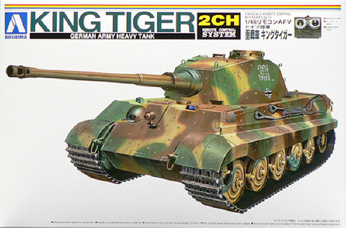 Aoshima 48665 RC AFV Series No. 11 German Army Heavy Tank King Tiger 1/48 scale