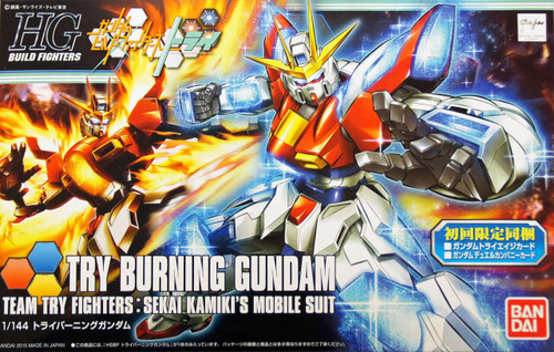 Bandai HG Build Fighters 028 TRY BURNING Gundam 1/144 Scale Kit