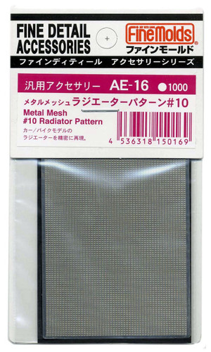 Fine Molds AE16 Metal Mesh #10 Radiator Pattern Fine Detail Accessories Series