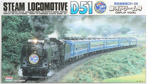 Arii 056011 Japanese Steam Locomotive Type D51 1/50 Scale Kit (Microace)