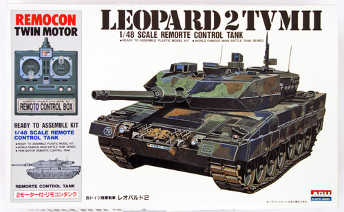 Arii 441558 LEOPARD 2TVMII Remorte Control Tank 1/48 Scale Kit