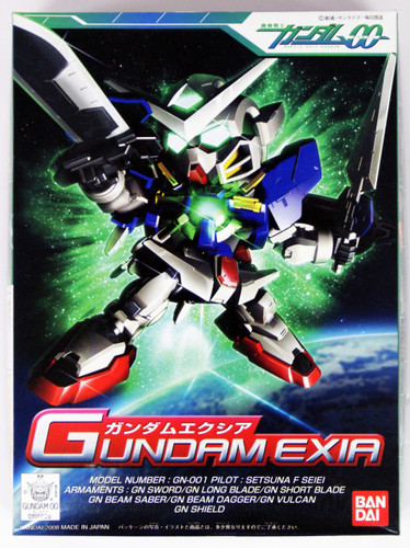 Bandai SD BB 313 Gundam Exia Plastic Model Kit