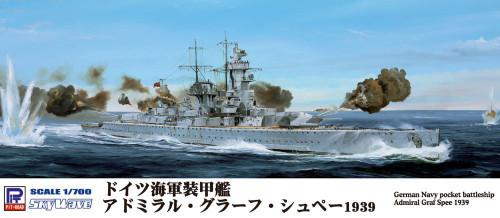 Pit-Road Skywave W-155 German Navy Pocket BattleShip Admiral Graf Spee 1939 1/700 Scale Kit