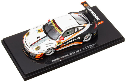 Ebbro 44935 HANKOOK Porsche Super GT300 2013 No.33 White 1/43 Scale