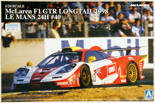 Aoshima 14189 McLaren F1 GTR Long Tail 1998 Le Mans 24H #40 1/24 Scale Kit