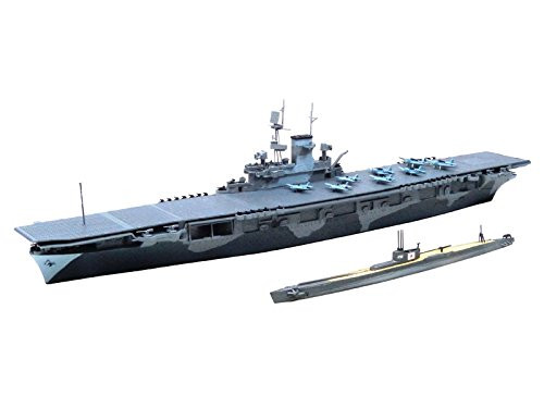 Aoshima Waterline 10303 US Aircraft Carrier WASP & Japanese Submarine I-19 1/700 Scale Kit
