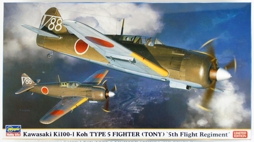 Hasegawa 07415 Kawasaki Ki100-1 Koh Type 5 Fighter (Tony) 5th Flight Regiment 1/48 Scale Kit