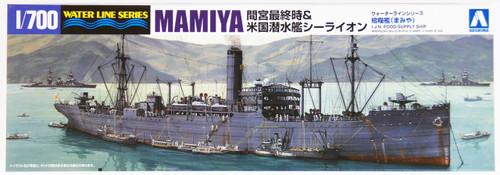 Aoshima Waterline 10389 IJN FOOD SUPPLY Ship MAMIYA & USS SEALION 1/700 Scale Kit