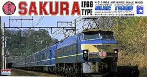 Arii 708026 HO Series EF66TYPE Blue Train Sakura 1/80 Scale Kit
