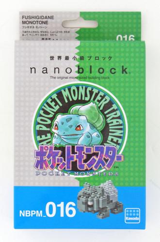 Kawada NBPM-016 nanoblock Pokemon Bulbasaur (Fushigidane) MonotOne