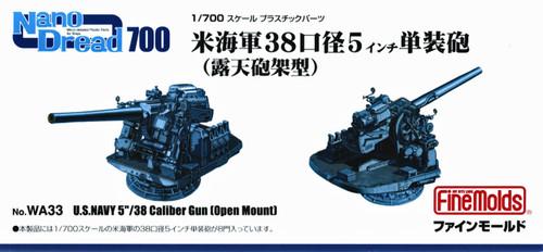 Fine Molds WA33 U.S.Navy 5/38 Caliber Gun (Open Mount) 1/700 Scale Kit