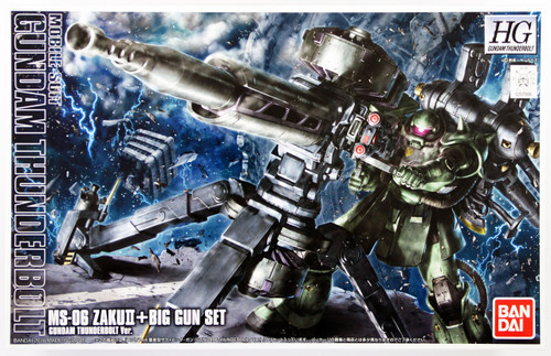 Bandai HG Gundam MS-06 ZAKU II + Big Gun Set (Thunderbolt Version) 1/144 Scale Kit