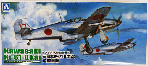 Aoshima 22290 IJN Kawasaki Ki-61-II Kai Hien Fighter 1/72 Scale Kit