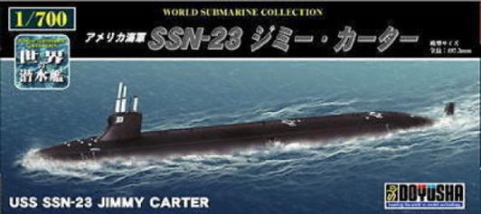Doyusha 500033 SSN-571 Nautilus Submarine 1//300 Scale Plastic Model Kit