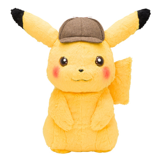 Pokemon Plush Doll Stuffed Toy 1//1 Scale Detective Pikachu 40cm w// Tracking NEW