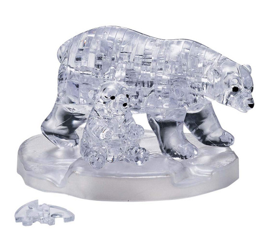 Beverly 41 Piece Crystal Puzzle Teddy Bear Brown 3D Puzzles 50119 from JAPAN