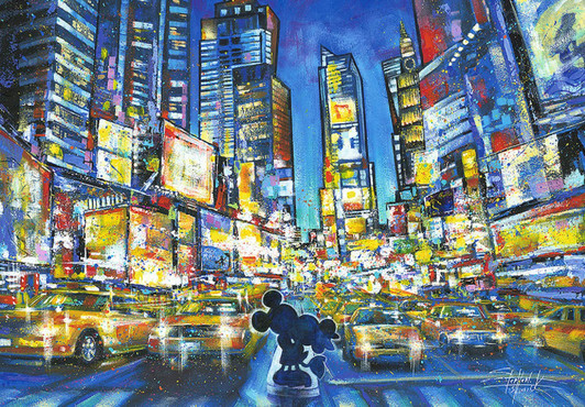 Epoch 1000 piece jigsaw puzzle Aim shining Hong Kong China shiny puzzle 12-501 #