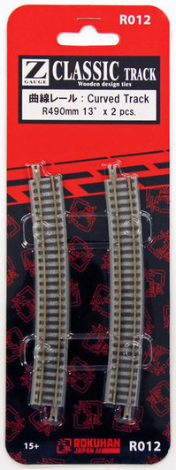/& 110mm Track Rokuhan R040 R490mm 13º Remote Turnout Right Hand 1//220 Z Scale