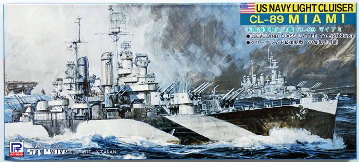 Pit-Road Skywave W-209 USN Light Cruiser CL-89 USS Miami 1//700 Scale kit