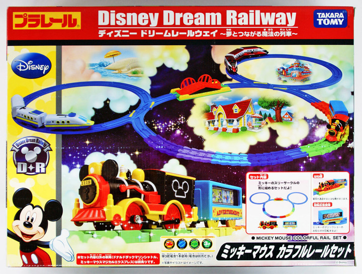 Takara Tomy Pla Rail Plarail Disney Dream Railway Mickey Mouse Colorful Rail Set 807995 Plaza Japan