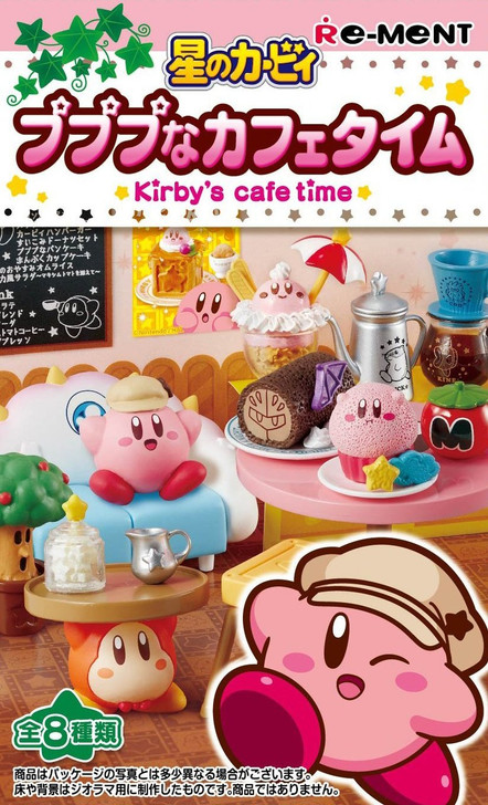 """Re-ment 203638 """"Kirby's Cafe Time"""" 8 Figure Complete set"""