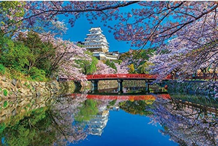 APPLEONE Jigsaw Puzzle 1000-833 Himeji Castle Cherry Blossom Hyogo Japan  (1000 Pieces)
