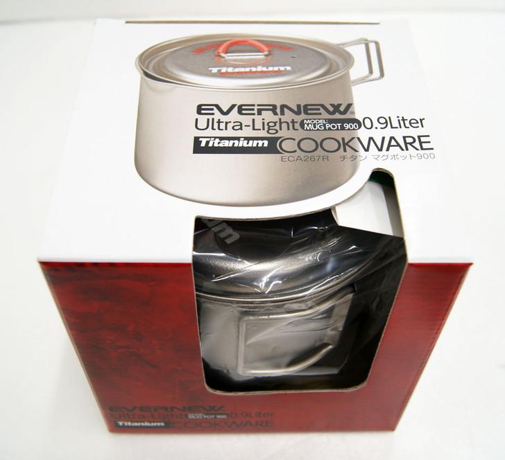 Evernew ECA267R Ultralight Series Titanium Mug Pot 900