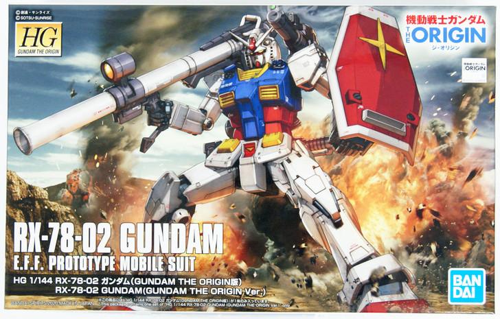 Bandai Gundam The Origin 026 RX-78-02 Gundam (Gundam The Origin Ver.) 1/144 Scale Kit