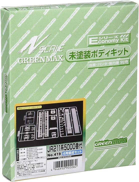 Greenmax No.419 JR Series 211-5000 4 Cars Set (N scale)
