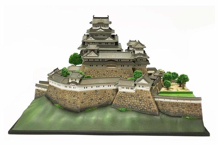 plastic model of a castle