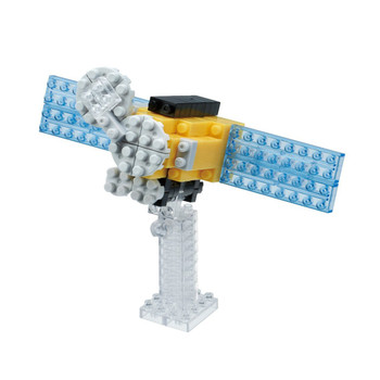 Astronaut and Satellite Kawada Two Unique Nanoblock Space Sets Sold Together