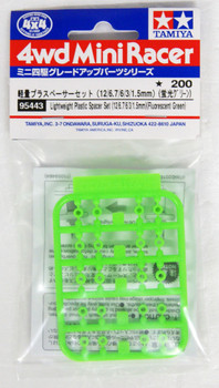 12//6.7//6//3//1.5mm TAMIYA 95536 Mini 4WD Lightweight Plastic Spacer Set Purple