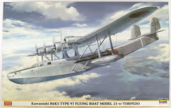 Mavis Hasegawa 02280 Kawanishi H6K5 Type 97 Flying Boat Model 23 w// Torpedo