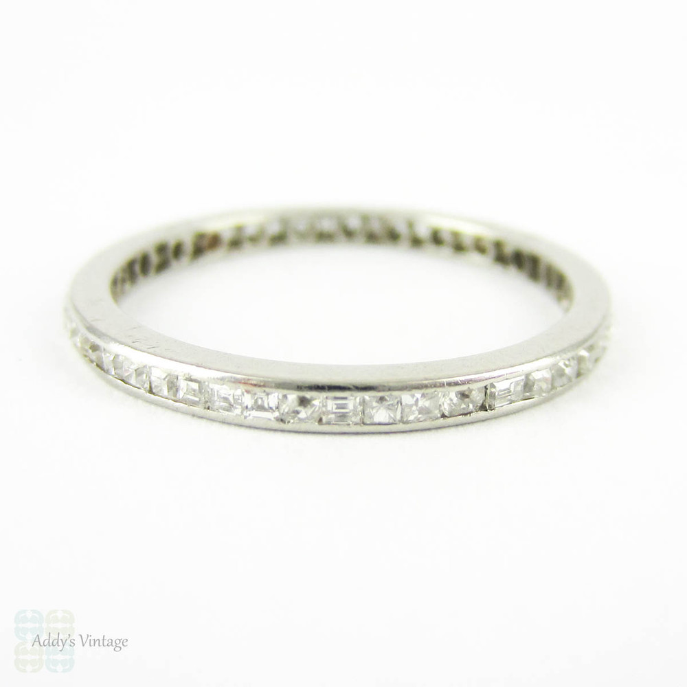 Art Deco Diamond Eternity Ring Square Table Cut Amp Carre