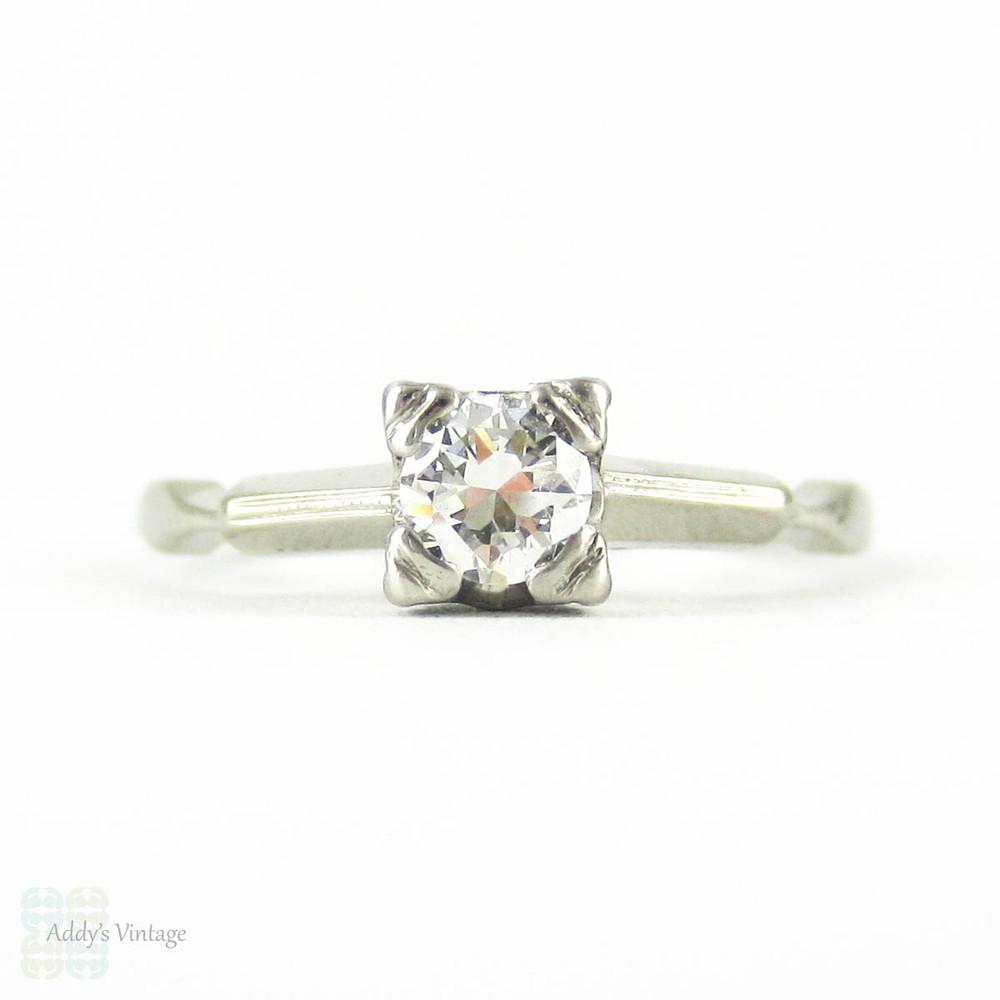 5d513e21387ec RESERVED. Art Deco Diamond Engagement Ring, Vintage 0.25 ct ...