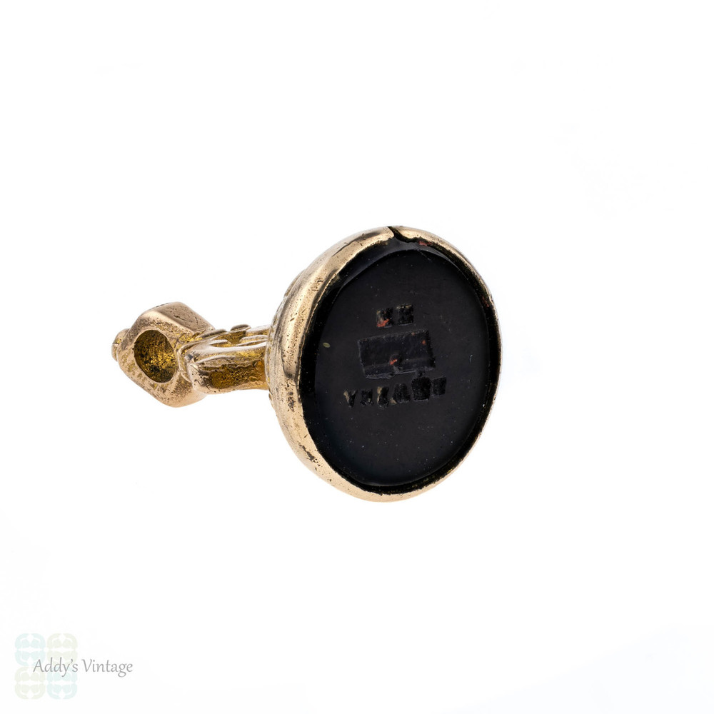 Antique Victorian Pinchbeck Seal, ANSWER ME. Engraved Letter & Envelope Intaglio Watch Fob.