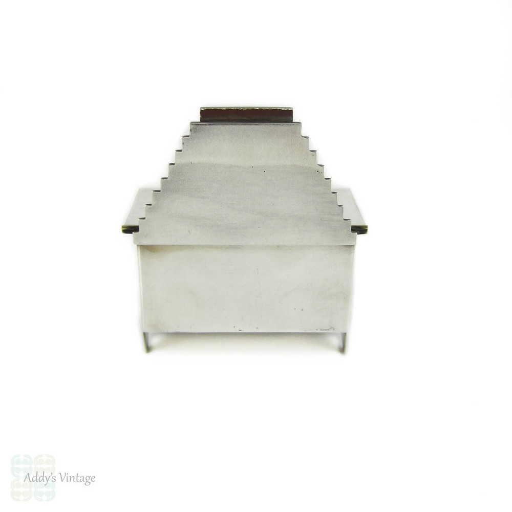 Sterling Silver Dressing Table Miniature, Art Deco Style Handmade Jewellery Storage Box.
