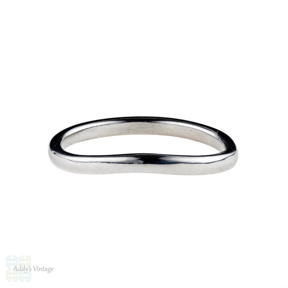Curved Gold Wedding Ring, 18ct Gold Shaped Handmade Wedding Band.